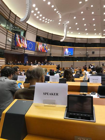Padre Giulio Albanese interviene al Parlamento europeo