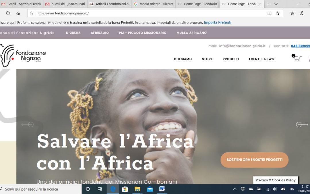 Nuovi siti della Fondazione Nigrizia