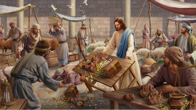 Mercato nella casa di Dio