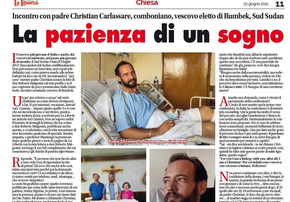 P. Christian Carlassare: la pazienza di un sogno